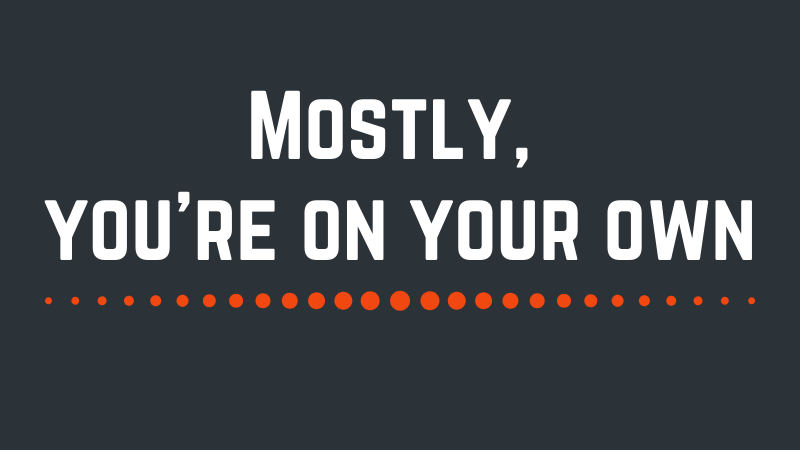 Mostly, you're on your own - Shane Breslin Blog