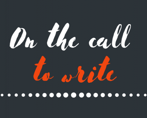 The writing vocation, or thoughts on the call to write