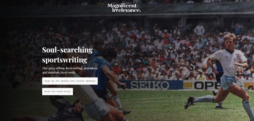 Magnificent Irrelevance - Soul-searching sportswriting
