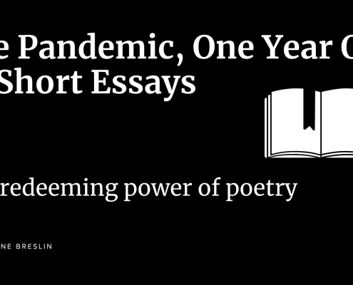 Pandemic essays: The redeeming power of poetry